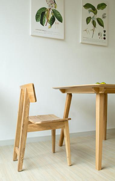 Natural Ash Wood Dining Chair